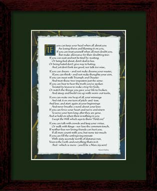 If By Kipling If Poem Art Print 8x10 Framed