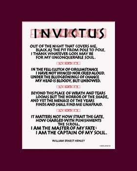 Invictus Poem Invictus Art Print 8x10