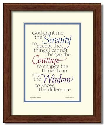 serenity prayer 12 x 15 framed 99 16 sh