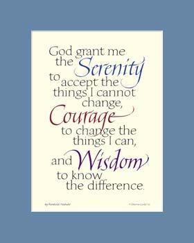 Serenity Prayer Poster Serenity Prayer Print Serenity